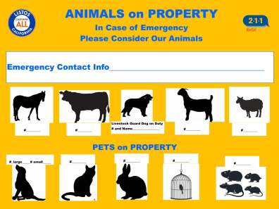 Pet Emergency Preparedness Plan