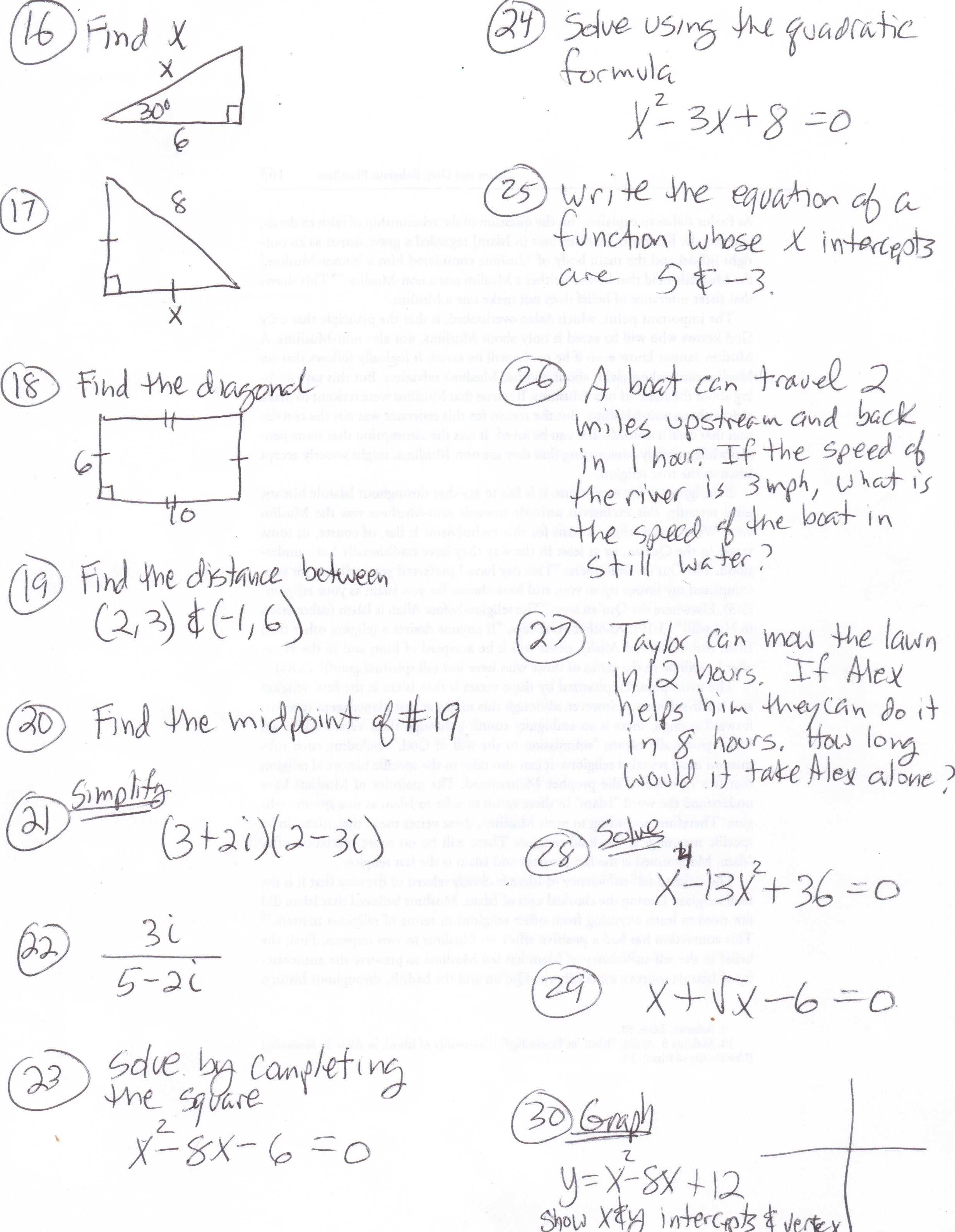 Math 110 Practice Test 7 8 9 Pg2