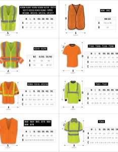 Safety vest  shirts also hi vis size chart  industries inc rh rrind