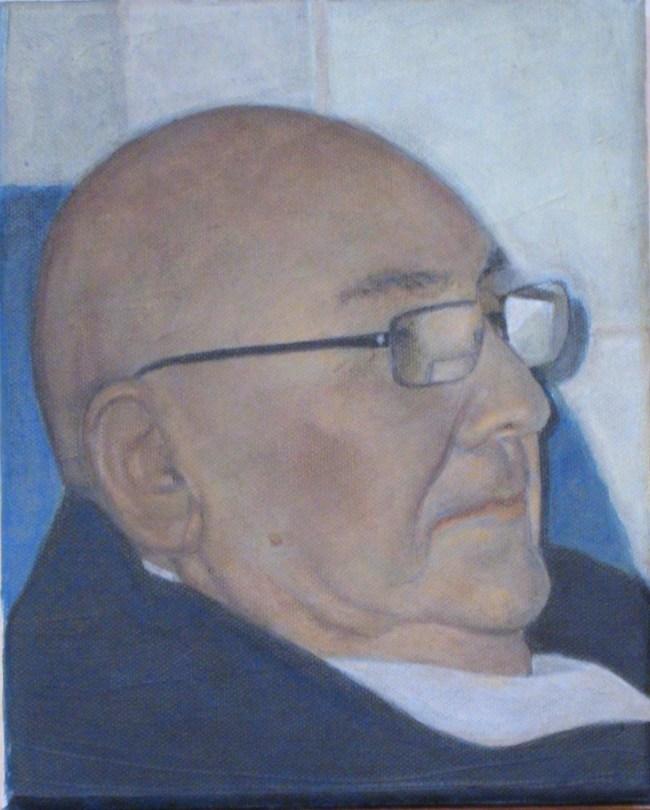 "Bob Ingram - Acrylic on Canvas - 9"" x12"""