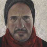 """Self in Winter - Acrylic on Canvas - 9"""" x 12"""""""