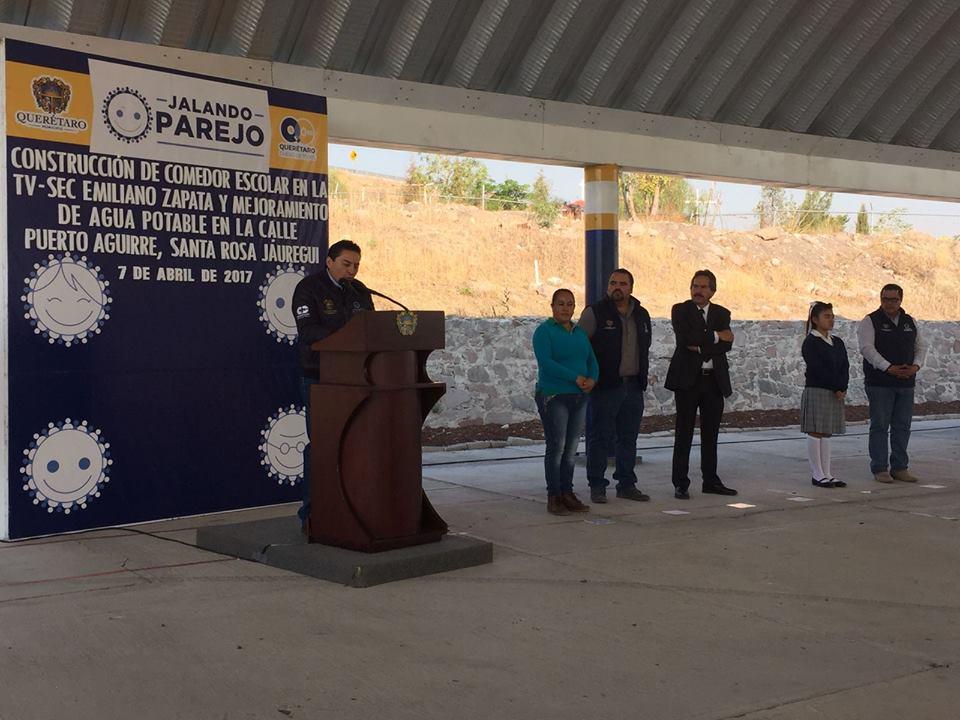 Arranca construccin de comedor escolar en la Telesecundaria Emiliano Zapata  RR Noticias