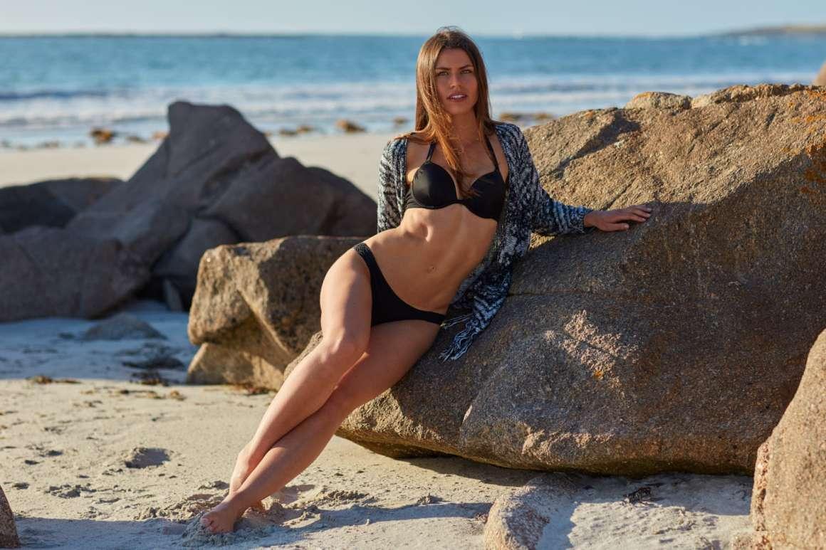 photo plage à Tréompan avec Margaux