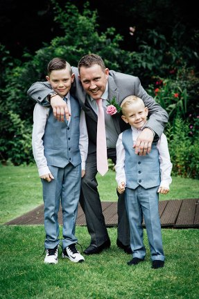 Groom and page boys