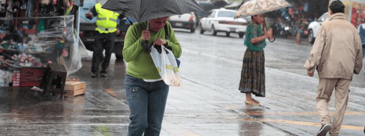 Lluvias en el país se asocian al ingreso de un nuevo frente frío