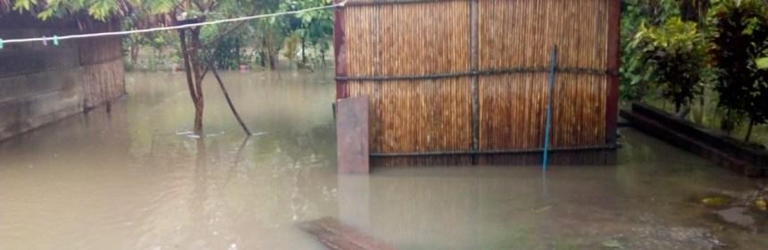 Más de 2 mil afectados por las lluvias en el departamento de Izabal