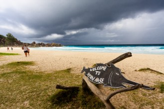 At Grand Anse again, this time the sky not looking so friendly
