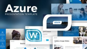 Azure Business PowerPoint Template