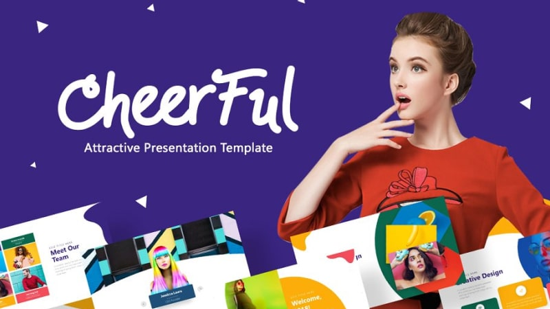 Cheerful Fashion PowerPoint Template