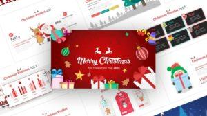 Christmas Event PowerPoint Template Christmas Asset