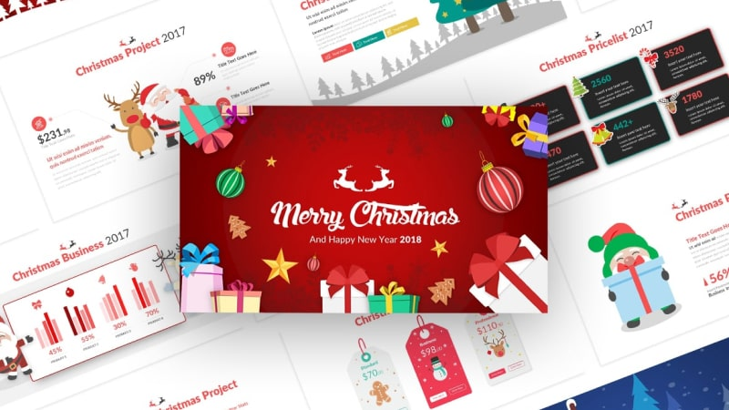 Christmas Event PowerPoint Template: Christmas Asset