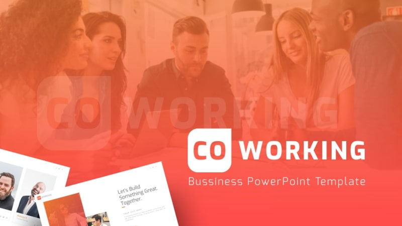 Coworking Startup PowerPoint Template