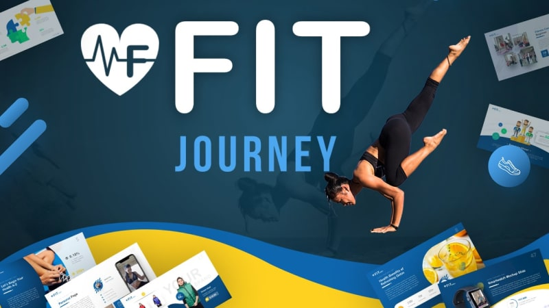 Fit Journey Work Out Presentation Template