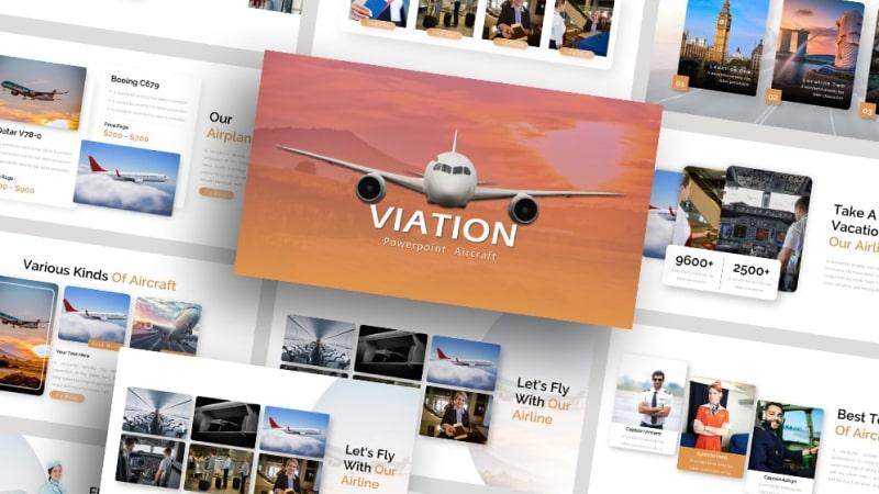 Viation Transportation PowerPoint Template