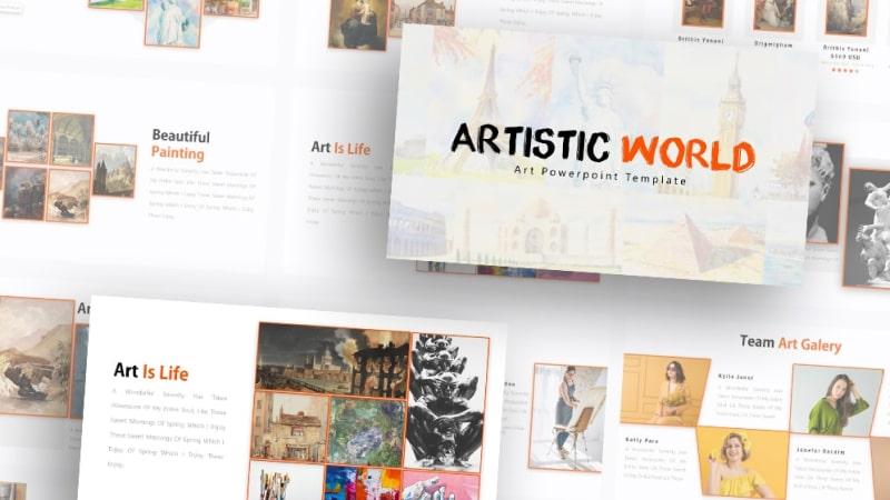 Free Art Gallery PowerPoint Template