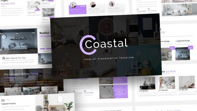 Free Coastal Interior PowerPoint Template