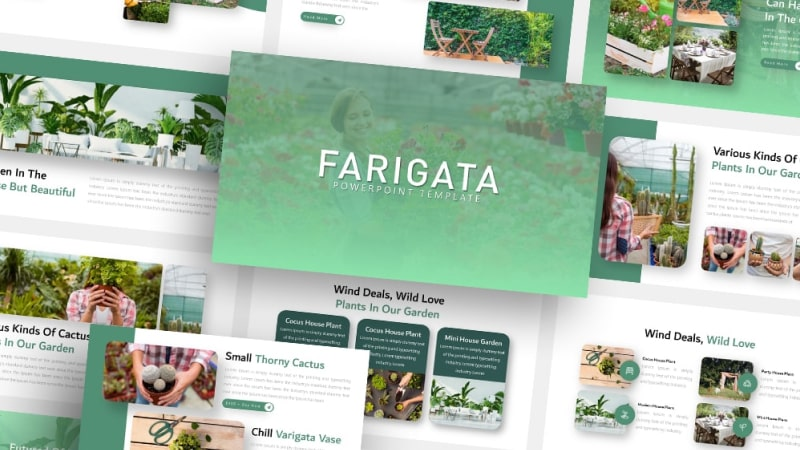 Free Farigata Gardening PowerPoint Template
