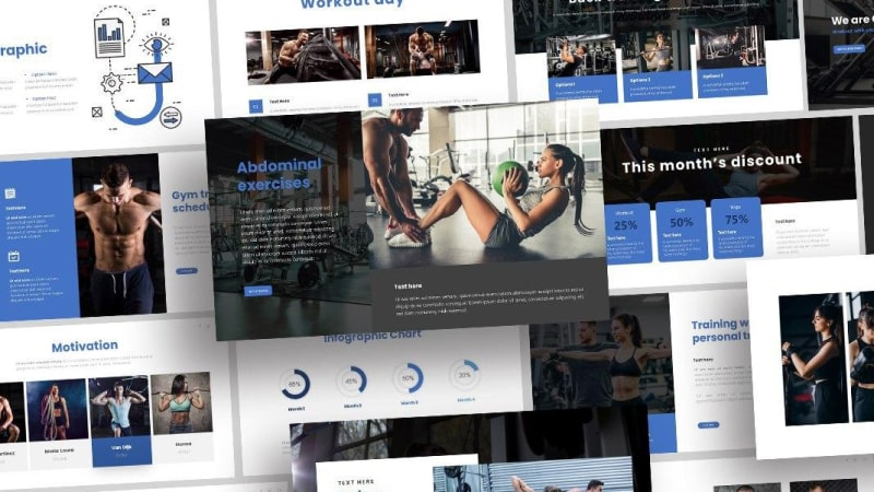 Free Gym Sports PowerPoint Template