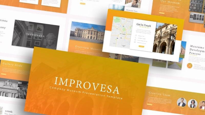 Free Improvesa Museum PowerPoint Template