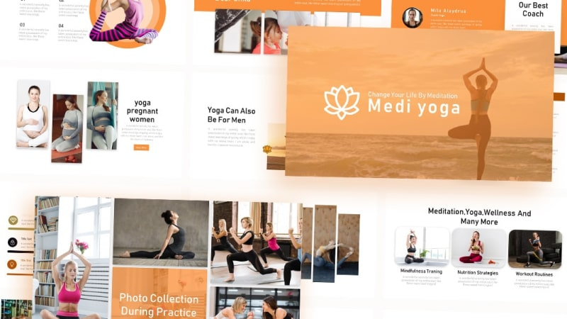 Free Yoga Sports PowerPoint Template