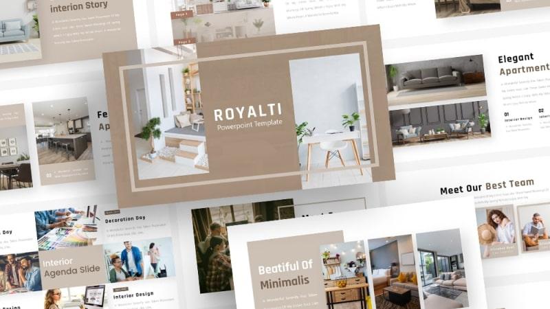 Free Royalti Interior PowerPoint Template
