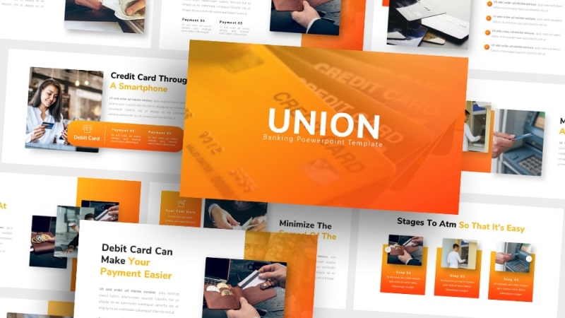 Free Union Banking PowerPoint Template