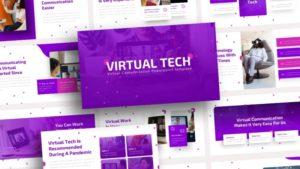 Free-Virtual-Tech-Virtual-Communication-Powerpoint-Template