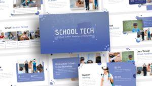 Free-Virtual-Tech-Virtual-School-Powerpoint-Template
