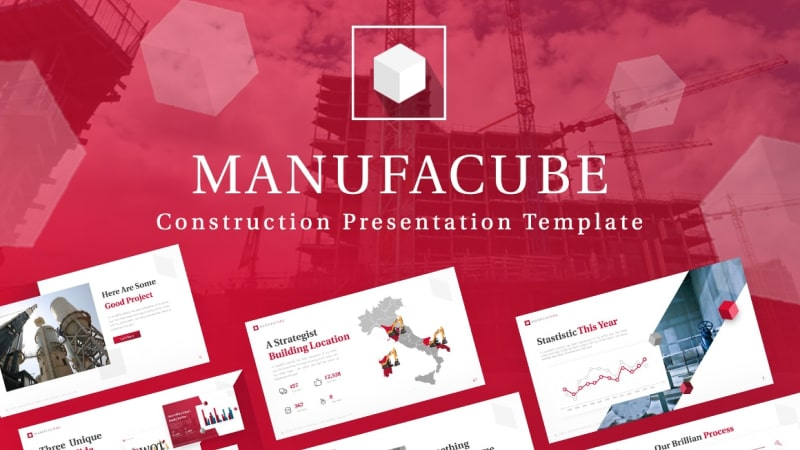 Manufacube Engineering PowerPoint Template