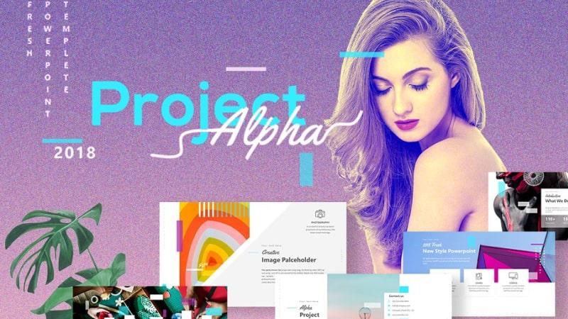 ProjectAlpha Portfolio PowerPoint Template
