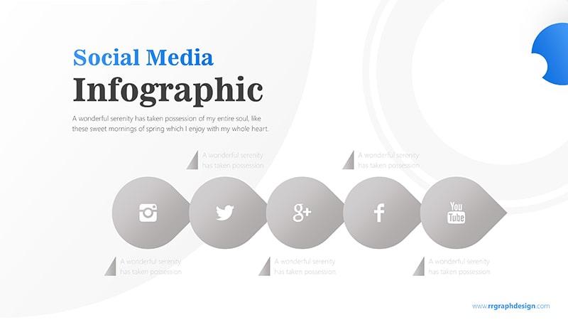 Circle Arrow with Social Media Icons