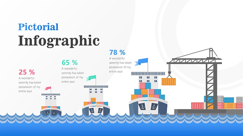 Cargo Infographic PowerPoint Template: Pictorial