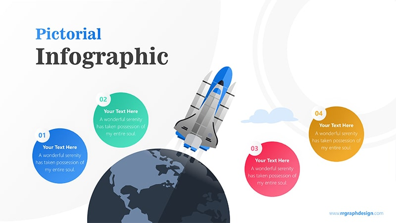 Skyrocket Infographic PowerPoint Template: Pictorial