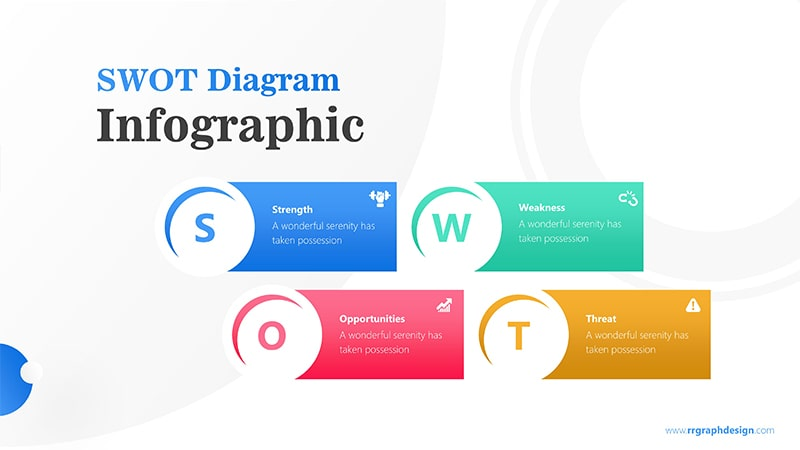 Simple Infographic PowerPoint Template: SWOT Diagram