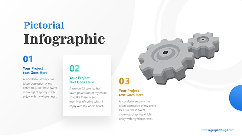Gearwheel Infographic PowerPoint Template: Pictorial