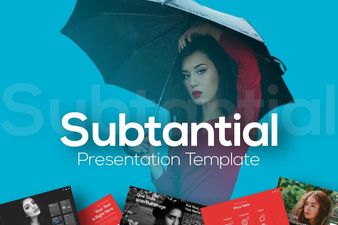 Subtantial – Aesthetic Presentation Template