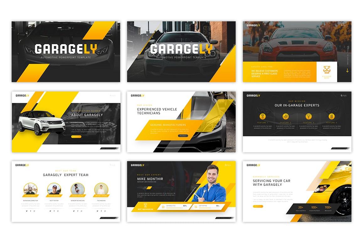 Garagely Automotive PowerPoint Template