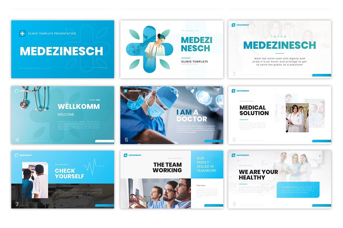 Medezinesch Health PowerPoint Template