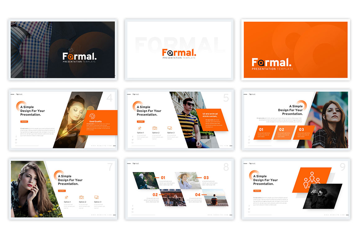 Formal – Minimalist Business Presentation Template