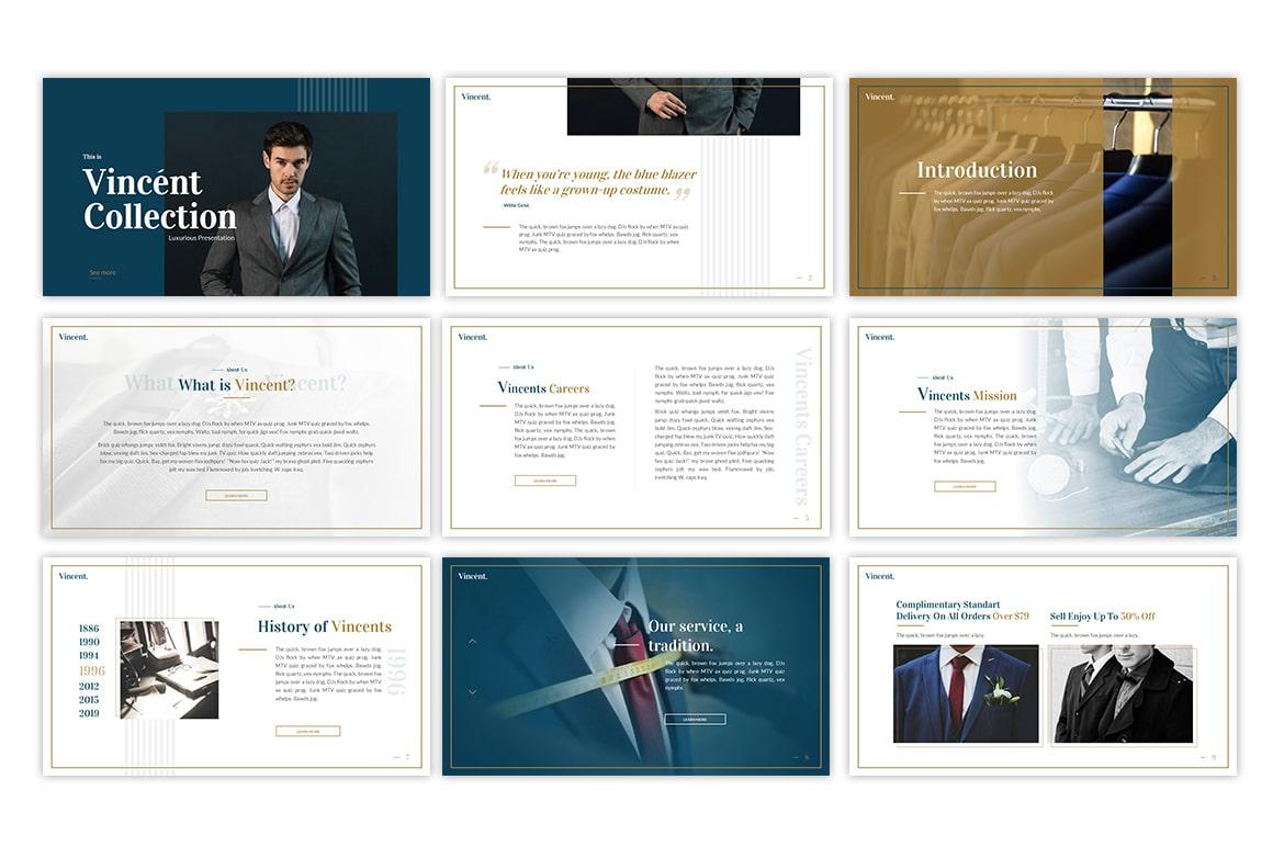 Vincent Fashion PowerPoint Template