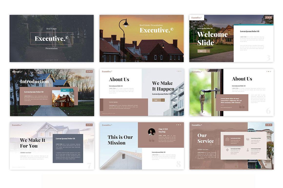 Executive - Real Estate Presentation Template