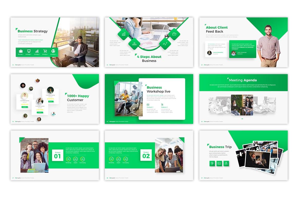 Metropolis – Futuristic Business Presentation Template