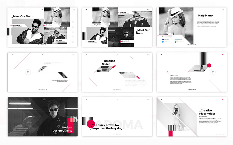 Aroma Photography PowerPoint Template