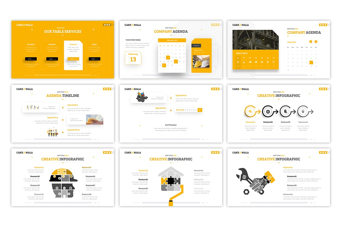 Cakrawala Architecture PowerPoint Template