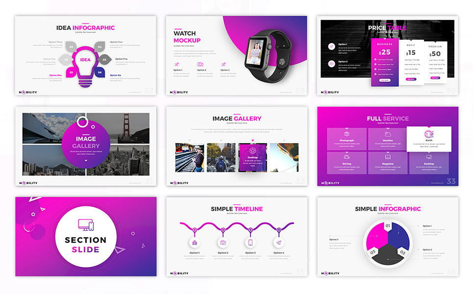 Mobility Business PowerPoint Template