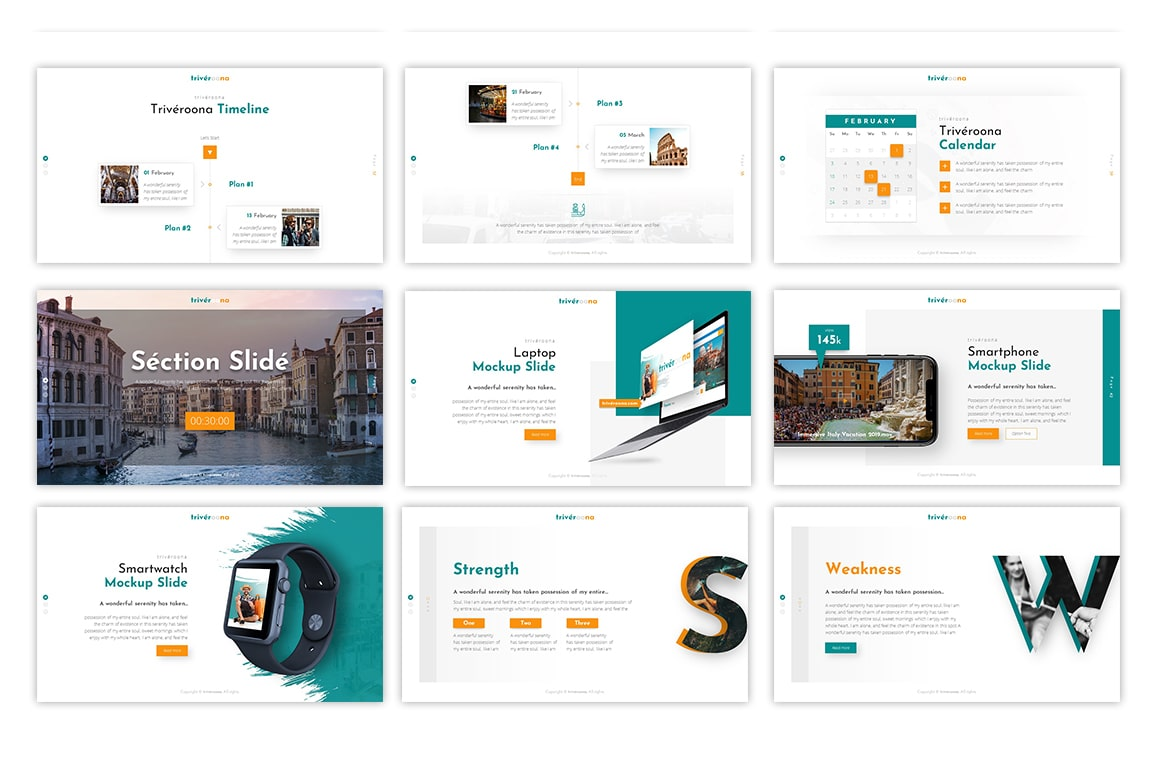 Triveroona Travelling PowerPoint Template