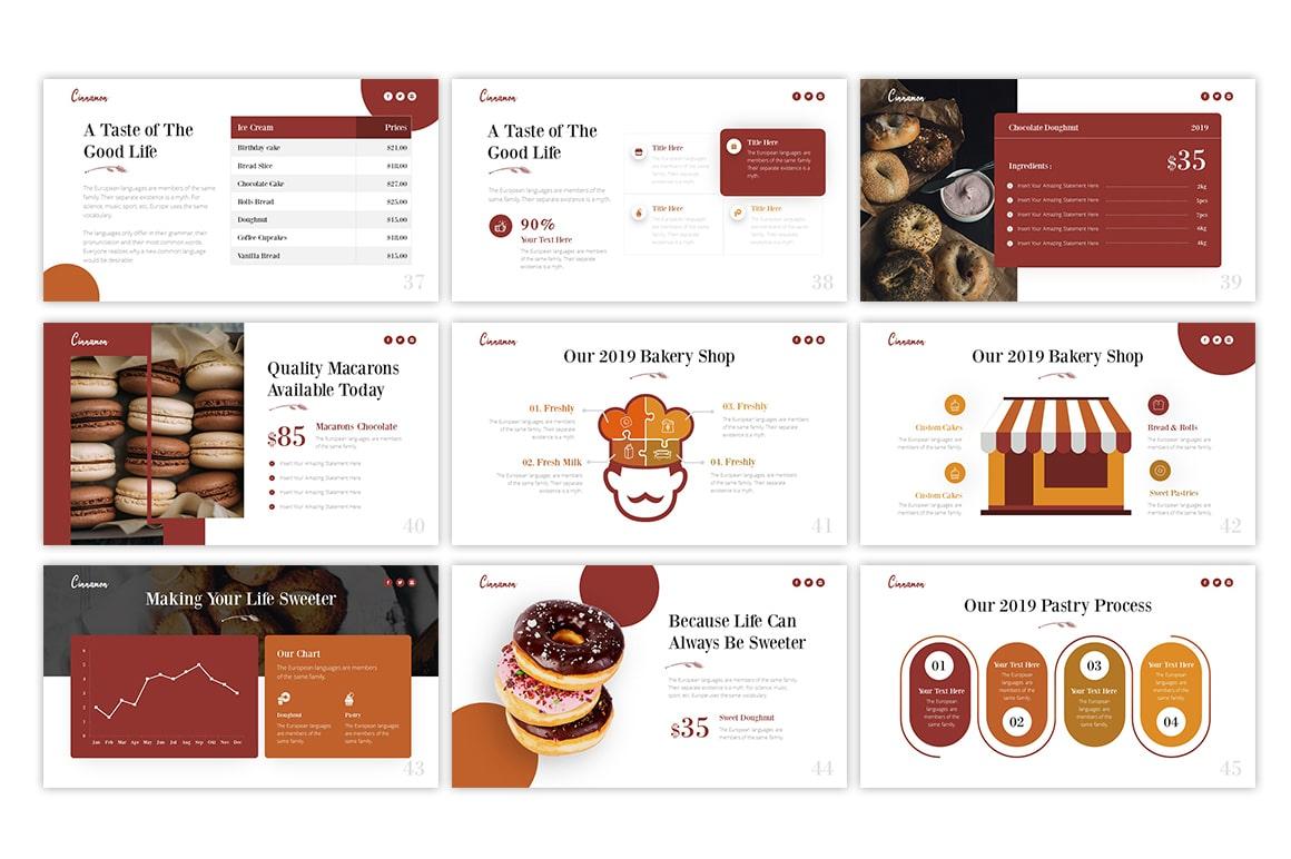 Cinnamon Bakery PowerPoint Template