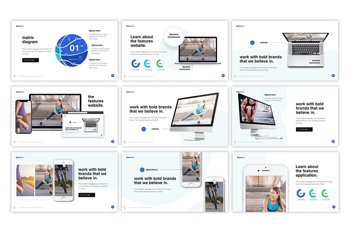 Elemntrix Sports PowerPoint Template