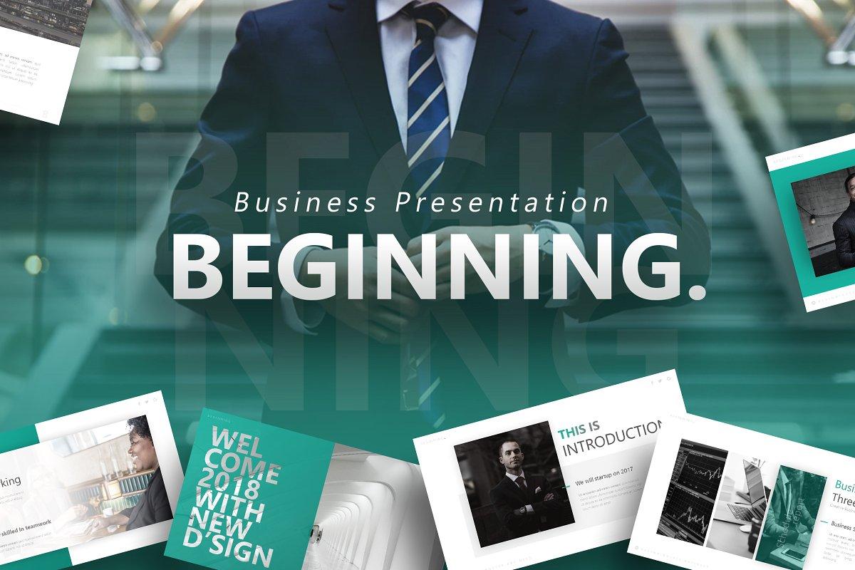 The Beginning – Business Presentation Template