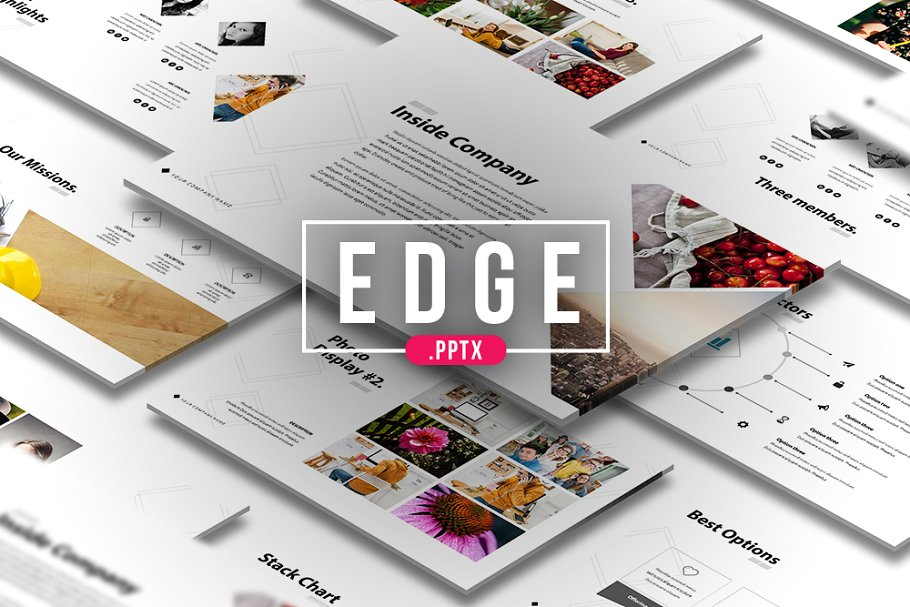 Edge Catalogue PowerPoint Template